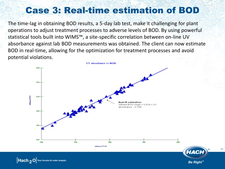 Case 3: Real-time estimation of BOD