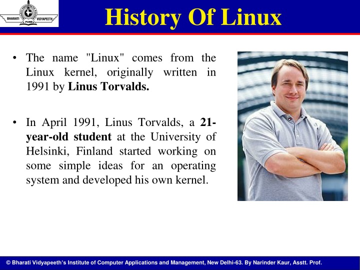 PPT - UNIT I LINUX : The Operating System PowerPoint