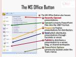 the ms office button1