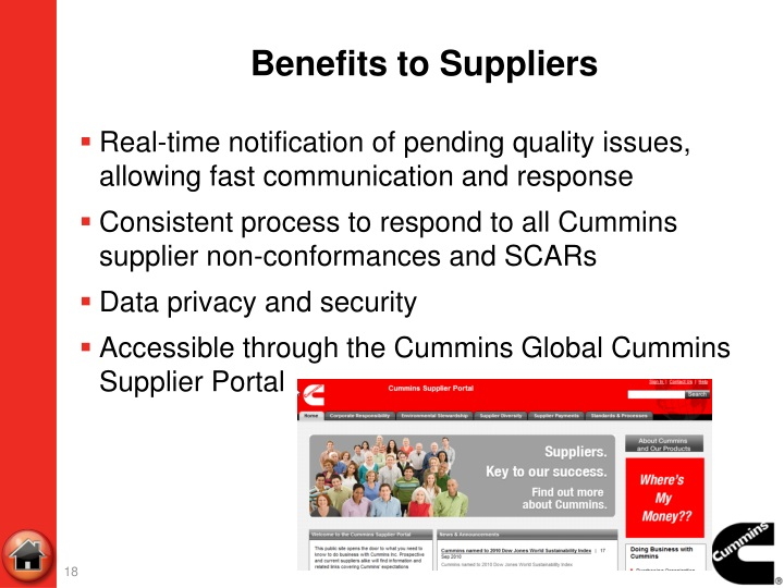 Benefits to Suppliers