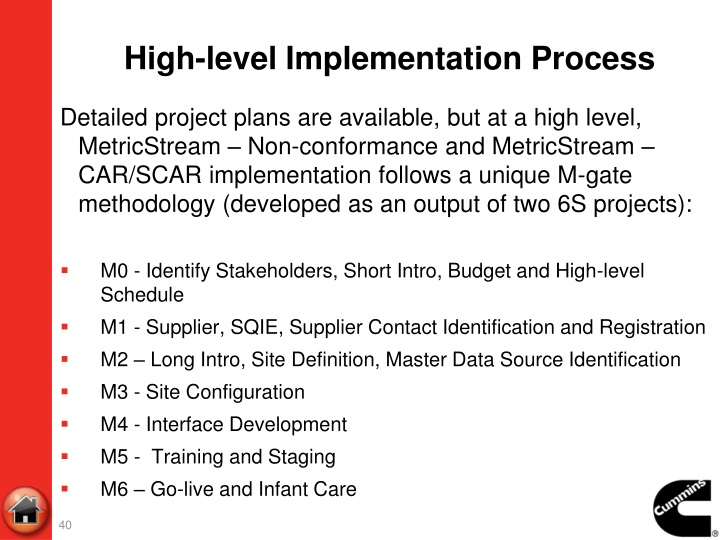 High-level Implementation Process