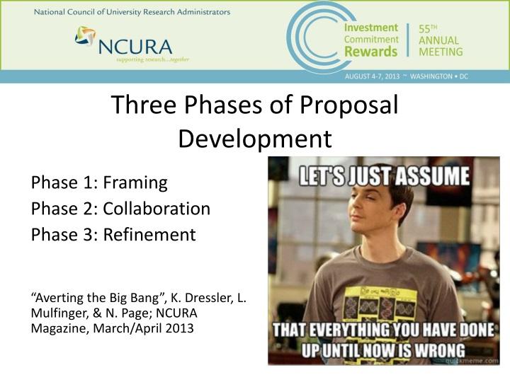 Three phases of proposal development