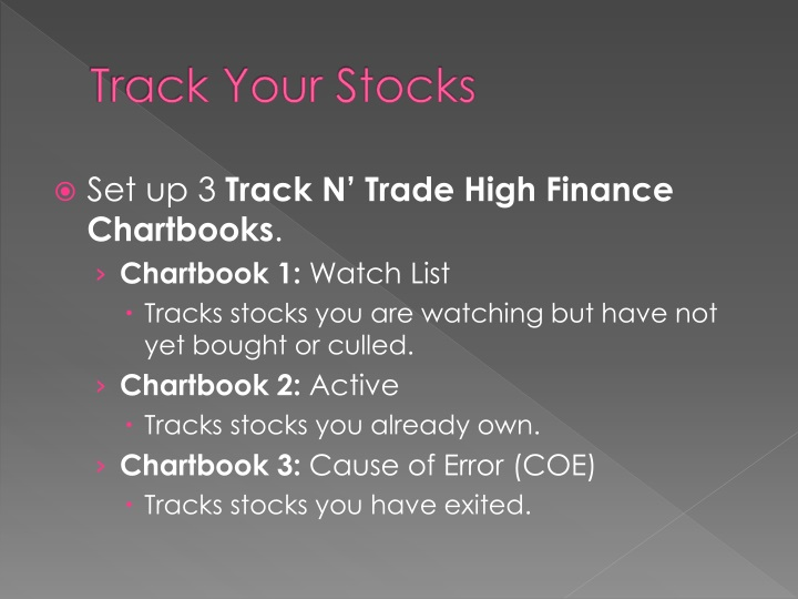 Track Your Stocks