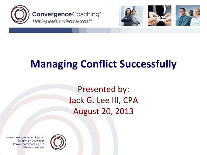 managing conflict successfully n.