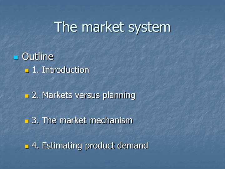 introduction to economics market systems demand