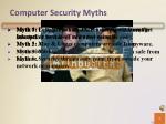 computer security myths