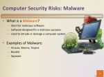 computer security risks malware