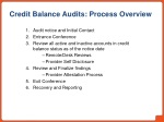 credit balance audits process overview