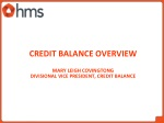 credit balance overview mary leigh covingtong divisional vice president credit balance
