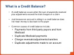what is a credit balance