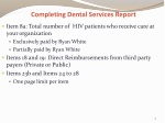 completing dental services report