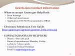 grants gov contact information