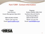 part f drp contact information