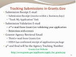 tracking submissions in grants gov