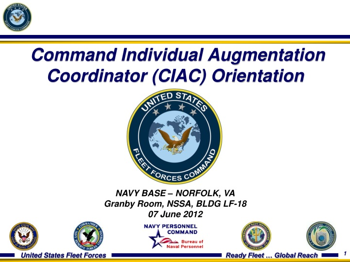 command individual augmentation coordinator ciac orientation n.