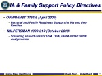 ia family support policy directives