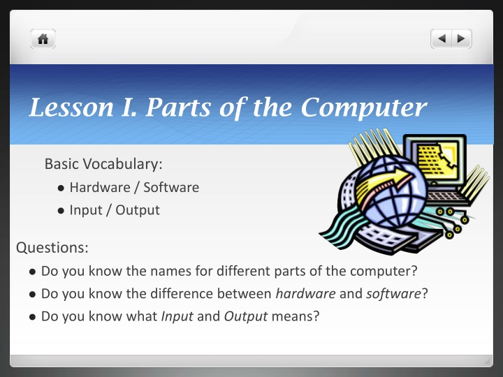 Lesson i parts of the computer
