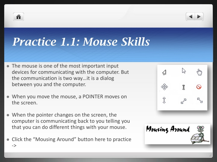 Practice 1.1: Mouse Skills