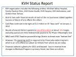 kvh status report