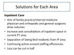 solutions for each area1