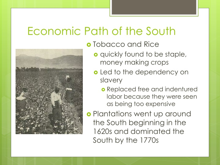 Economic Path of the South
