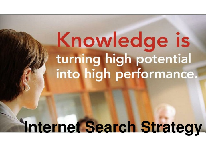 internet search strategy n.