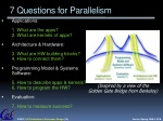 7 questions for parallelism