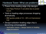 hardware tower what are problems