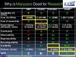 why is manycore good for research
