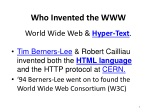 who invented the www