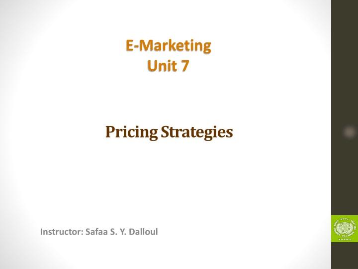 pricing strategies n.