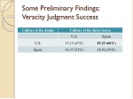 some preliminary findings veracity judgment success
