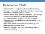 the benefits of caats
