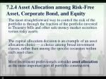 7 2 4 asset allocation among risk free asset corporate bond and equity