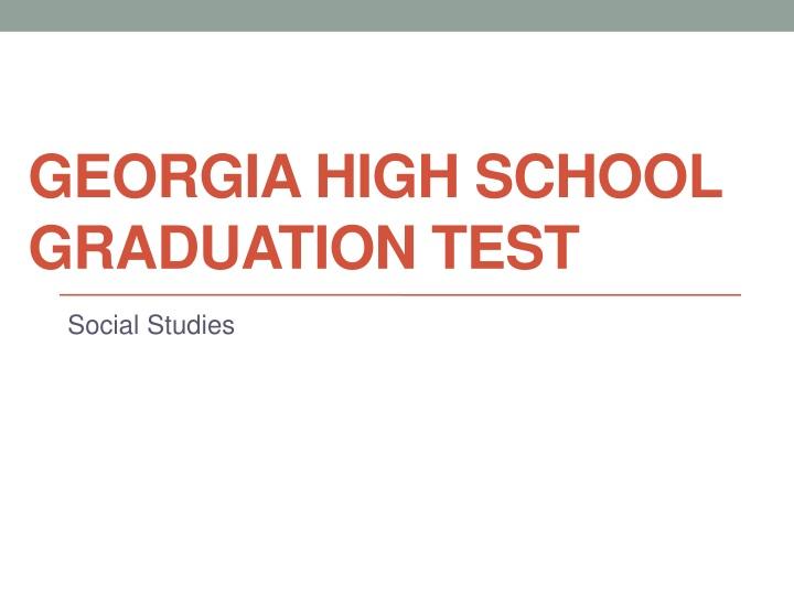 georgia high school graduation test n.