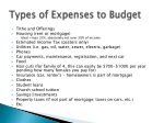 types of expenses to budget