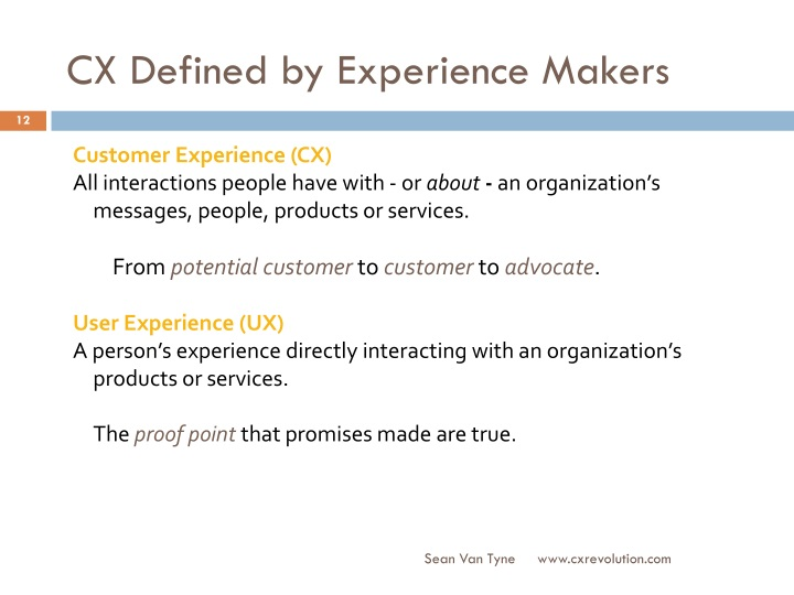 CX Defined by Experience Makers