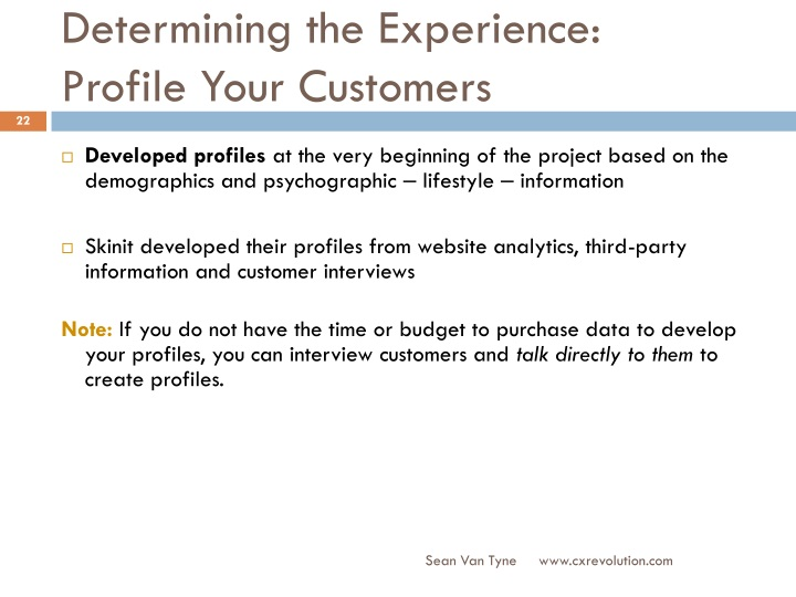 Determining the Experience: