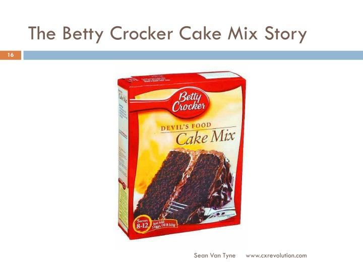 The Betty Crocker Cake Mix Story
