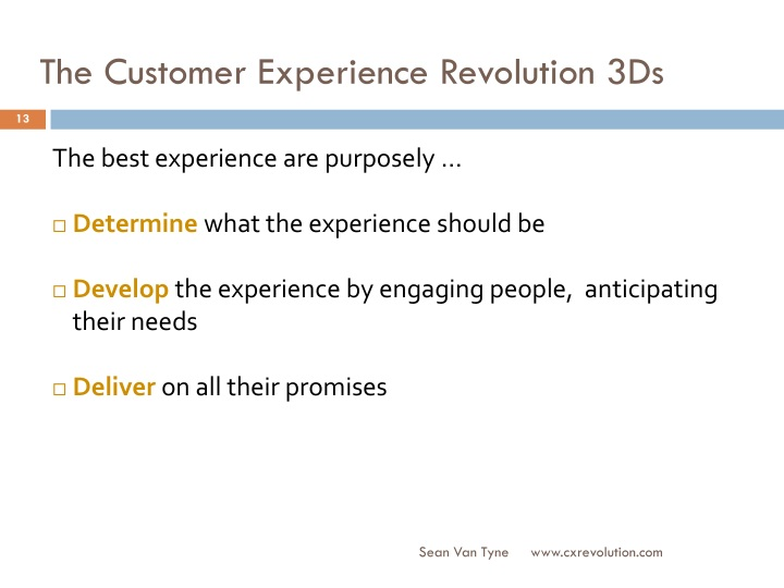 The Customer Experience Revolution 3Ds