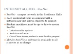 internet access resnet