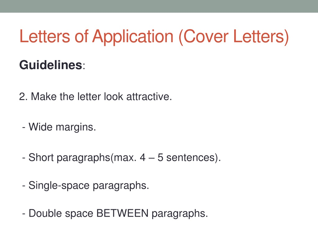 Cover Letter Single Or Double Spaced from image1.slideserve.com