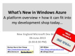 what s new in windows azure a platform overview how it can fit into my development shop today