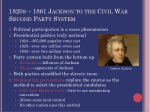 1820s 1861 jackson to the civil war second party system