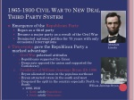1865 1930 civil war to new deal third party system