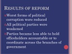 results of reform