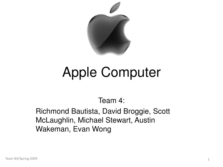 apple inc executive summary Executive summary on apple computer the paper deals with the apple turnaround and the role of steve jobs in it this issue is one of the most famous strategic turnarounds, in which a company on a brink to disaster was brought back by the forcibly ousted founder and ceo of the company.