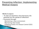 preventing infection implementing medical asepsis