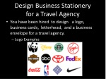 design business stationery for a travel agency