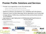 premier profile solutions and services
